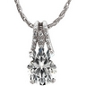 Created Moissanite and Diamond Pendant 10 x 8mm .08 CTW Ref 315932