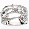 Created Moissanite and Diamond Ring 1.63 CTW Ref 763591