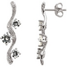 Moissanite and Diamond Earrings 1.88 CTW .1 CTW Ref 652710
