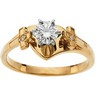 Religious Bridal Engagement Ring and Band .52 CTW Ref 468535