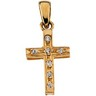 CZ Gold Crosses