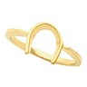 Western Style Horseshoe Ring 10 x 10mm wide Ref 349065