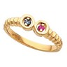 Birthstone Mothers Ring May hold up to 7 round 2mm gemstones Ref 112654