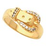 Western Style Ladies  Buckle Ring 9 x 16mm wide 16 pttw diamond Ref 881715