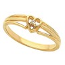 Accented Heart Ring 1 pttw dia. Ref 959213