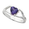 Heart Color Fashion Ring 6 x 6mm Ref 132033
