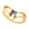 Birthstone Mothers Ring May hold 2 to 6 baguette 5 x 2mm gemstones Ref 457034