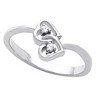 Accented Heart Ring 3 pttw dia. Ref 748850