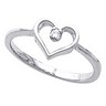 Accented Heart Ring 2 pttw dia. Ref 256731