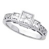 Princess Bezel Set Engagement Ring with Prong Set Diamond Accents Ref 800002