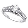 Antique Retro Engagement Ring with Diamond Accents 1.25 CTW Ref 363727
