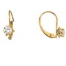 Teen CZ Leverback Buttercup Earrings Ref 368452