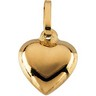 Puffed Heart Pendant with Chain 6.5 x 7.5mm Ref 793737
