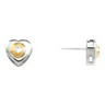 Swarovski Heart Stud Earrings 10 x 10mm Heart 3mm Ref 644197