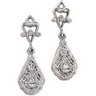Filigree Dangle Earrings | 27.5 x 7.75 mm | SKU: 21936