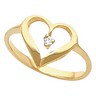 Heart-Shaped Ring 2 pttw dia. | SKU: 4178