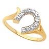 Western Style Ladies  Horseshoe Ring 10.5 x 9.5mm wide .19 CTW Ref 384408