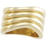 Wavy Ribbed Fashion Ring Ref 758067