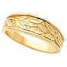 6.5mm Mens Tapered Leaf Design Band Ref 337991