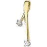 Two Tone Diamond Chain Slide .2 CTW Ref 525440