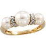 Pearl and Diamond Rings