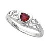 Ruby Heart Shaped Ring 4 x 4mm Ref 123649