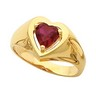 Ruby Heart Shaped Ring 6 x 6mm Ref 363840