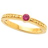 Birthstone Mothers Stackable Ring May hold 1 round 3mm gemstone Ref 254118