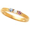 Mothers Stackable Ring May hold up to 3 round 2.5mm gemstones Ref 187493