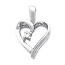 Diamond Heart-Shaped Pendant | 14 x 10 mm | SKU: 80005