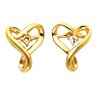 Diamond Heart Shaped Earrings 5 pttw dia. Ref 694201
