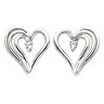 Diamond Heart Shaped Earrings 4 pttw dia. Ref 471466