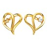Heart Shaped Earrings 2mm .06 CTW Ref 743545
