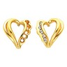 Diamond Heart Shaped Earrings 20 pttw dia. Ref 330426