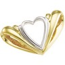 Two Tone Heart Chain Slide 20.75 x 36.5mm Ref 856417
