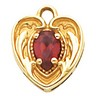 Heart Pendant Dangle with 6 x 4mm Pear Shaped Center Stone Ref 305519
