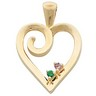 Heart Shaped Birthstone Mothers Pendant Holds up to 6 gemstones Ref 777089