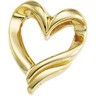 Heart Shaped Chain Slide 20.5 x 17.25mm Ref 965158