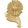 Gold Fashion Flower Brooch Ref 850977
