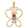 Birthstone Mothers Pendant Holds up to 5 birthstones Ref 364671