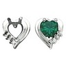 14K Gold Heart-Shaped Earrings; 6x6 Center; 7 pttw diamond | SKU: 8731