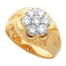 Mens Diamond Cluster Ring 1.05 CTW Ref 737131