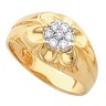 Mens Diamond Cluster Ring .21 CTW Ref 257664