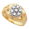 Mens Diamond Cluster Ring .35 CTW Ref 184621