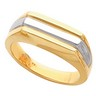 Two Tone Mens Band 6.5mm Ref 577262