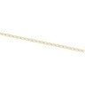 1.25mm Solid Curb Chain with Spring Ring Clasp Ref 851827