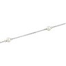 4mm Solid White Pearl Station Necklace 18 inches Ref 745992