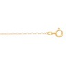 1mm Lasered Titan Gold  Curb Chain with Spring Ring Clasp Ref 694873