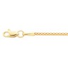1.75mm Hollow Popcorn Chain Lobster Clasp Ref 277991