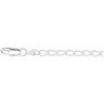 3mm Sterling Silver Curb Anklet 9.5 inches Ref 233693